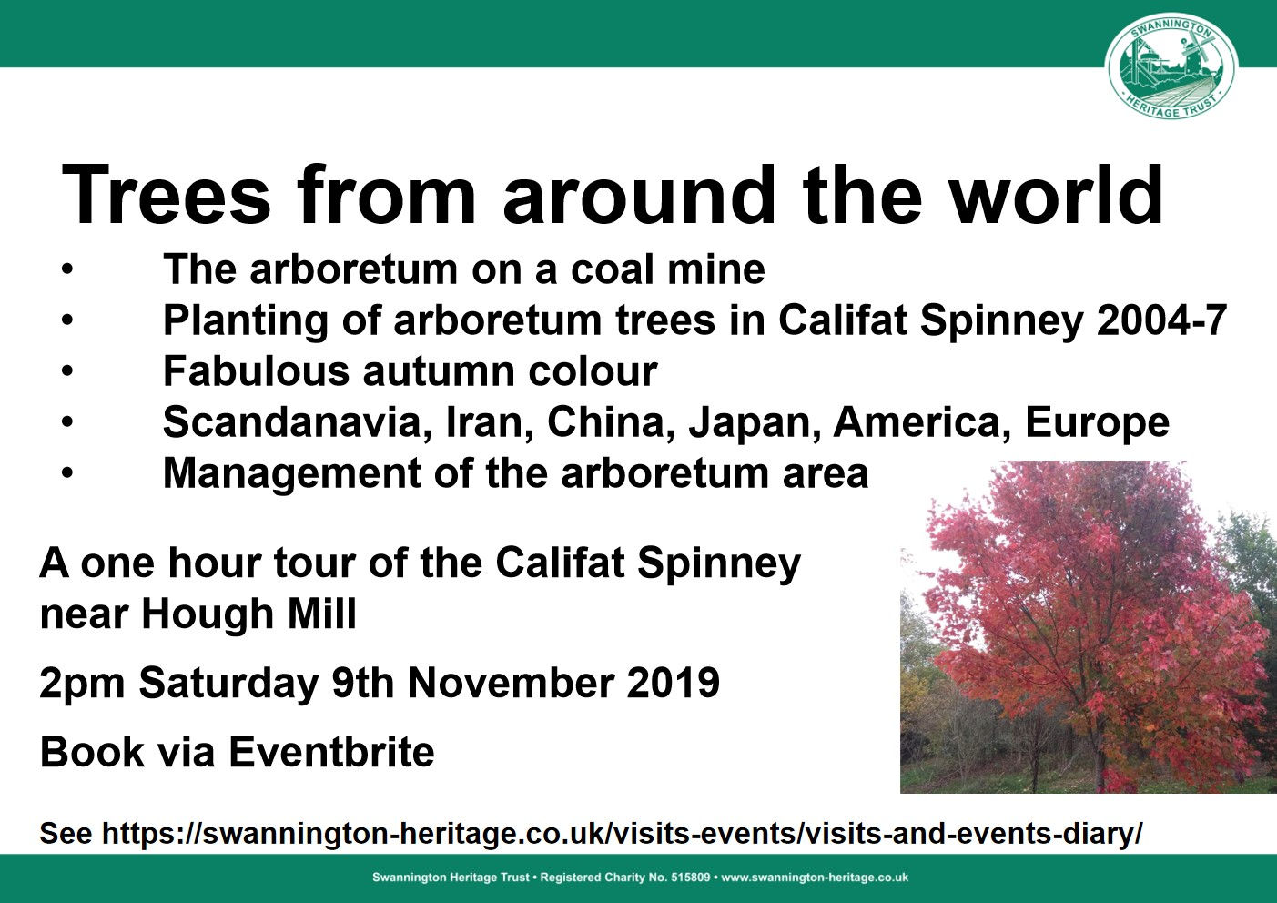 Tour of the arboretum in the Califat Spinney